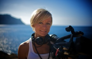 Director and photographer Gunhild Westhagen Magnor filming at Ibiza.