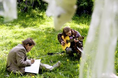 Kent og Clas spiller inn musikkvideo. Foto Line Møller, VG.