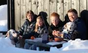 Familien Gilbo. Foto Eirik Høyme Rogn.