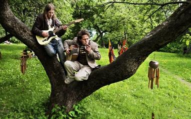 Clas og Kent under innspilling av musikkvideo. Foto Line Møller, VG.
