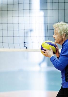 Lillemor Berthelsen (88) gjør comeback på landskampen. Foto: Dimitri Koutsomytis.